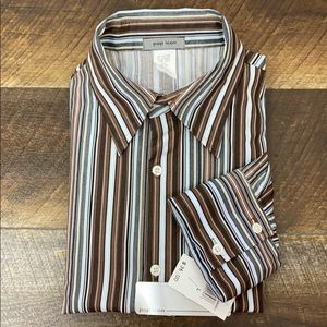 🔥BOGO Pop Icon Long Sleeve Brown striped shirt